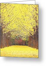 Yellow Trees Greeting Card by Kume Bryant