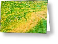 Yellowstone Abstract 1 Greeting Card by Bob and Nancy Kendrick