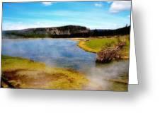 Yellowstone Landscape Greeting Card by Ellen Heaverlo