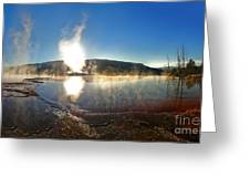 Yellowstone National Park - Minerva Terrace - 06 Greeting Card by Gregory Dyer