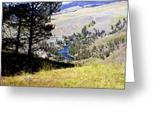 Yellowstone River Vista Greeting Card by Marty Koch