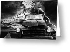 Yesterday Came Early . Tomorrow Is Almost Over . Bw Greeting Card by Wingsdomain Art and Photography