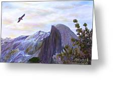 Yosemite Half Dome Greeting Card by Judy Filarecki