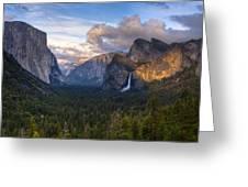 Yosemite Sunset Greeting Card by Jim Neumann