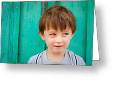 Young Child Greeting Card by Tom Gowanlock