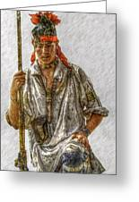 Young Delaware Indian Portrait  Greeting Card by Randy Steele