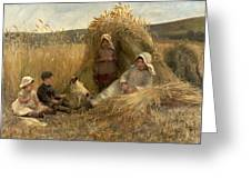 Young Harvesters Greeting Card by Lionel Percy Smythe