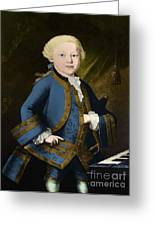 Young Wolfgang Amadeus Mozart, Austrian Greeting Card by Omikron