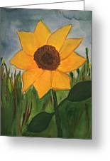 Your Sunflower Greeting Card by Cara Surdi