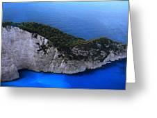 Zakynthos  Crocodile Island Greece Greeting Card by Colette V Hera  Guggenheim