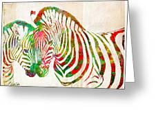 Zebra Lovin Greeting Card by Nikki Marie Smith