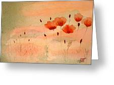 Zen Poppies Greeting Card by Arlene  Wright-Correll
