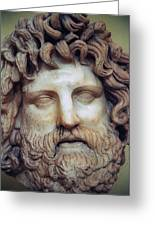 Zeus Head Greeting Card by Andonis Katanos