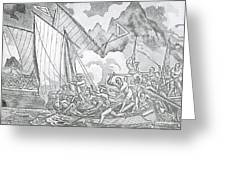 Zheng Yis Pirates Capture John Turner Greeting Card by Photo Researchers