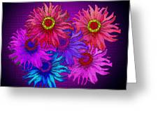 Zinnia Surprise Greeting Card by Larry Bishop