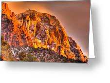 Zion's Fire I Greeting Card by Irene Abdou
