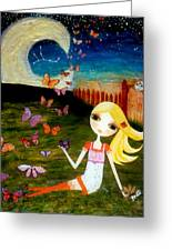 Zodiac Virgo Greeting Card by Laura Bell