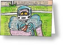 Zombie Football Greeting Card by Jera Sky