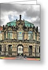Zwinger Dresden - Carillon Pavilion - Caution Fragile Greeting Card by Christine Till
