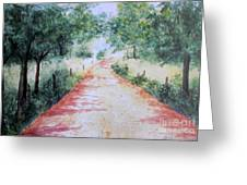 A Country Road Greeting Card by Vicki  Housel