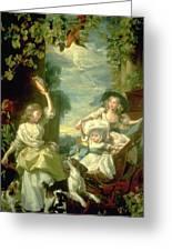 Bucoloic Painting By Honore Fragonard Greeting Card by Carl Purcell