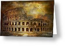 Colosseum Greeting Card by Andrzej Szczerski