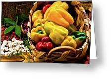 Italian Peppers Greeting Card by Harry Spitz