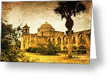 Mission San Jose Greeting Card by Iris Greenwell