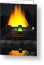 Mulholland Fountain Reflection Greeting Card by Clayton Bruster