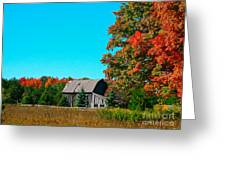 Old Barn In Fall Color Greeting Card by Robert Pearson