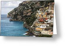 Positano Coastline Campania Italy  Greeting Card by George Oze