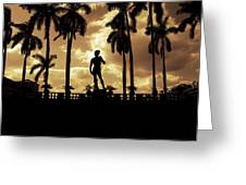 Replica Of The Michelangelo Statue At Ringling Museum Sarasota Florida Greeting Card by Mal Bray