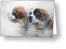 Saviours In The Snow Greeting Card by Trudi Simmonds