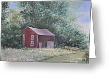 Shortys Shed Greeting Card by Penny Neimiller