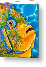 Spotted Angelfish Greeting Card by Daniel Jean-Baptiste