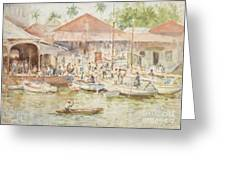 The Market Belize British Honduras Greeting Card by Henry Scott Tuke