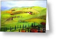 Tuscany Greeting Card by Maryann Schigur