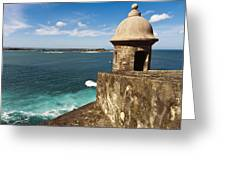 View From El Morro Fort Greeting Card by George Oze