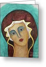 Virgin Mary Greeting Card by Vesna Antic