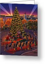 Visiting Santa Anta  Greeting Card by Robin Moline