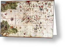 Nina: World Map, 1500 Greeting Card by Granger