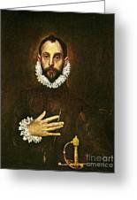 El Greco: Gentleman Greeting Card by Granger