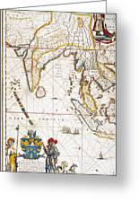 South Asia Map, 1662 Greeting Card by Granger