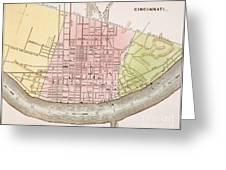 Cincinnati, Ohio, 1837 Greeting Card by Granger