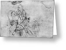 Benjamin Franklin (1706-1790) Greeting Card by Granger