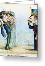 Cartoon: Mexican War, 1846 Greeting Card by Granger