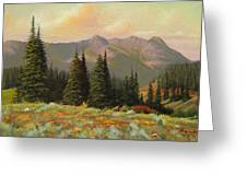 060815-1224  Late Summer Flowers Greeting Card by Kenneth Shanika