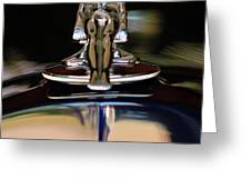 1934 Packard Hood Ornament 3 Greeting Card by Jill Reger