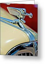 1940 Packard Hood Ornament Greeting Card by Jill Reger