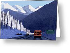 A Winter Drive In British Columbia Greeting Card by Neil Woodward